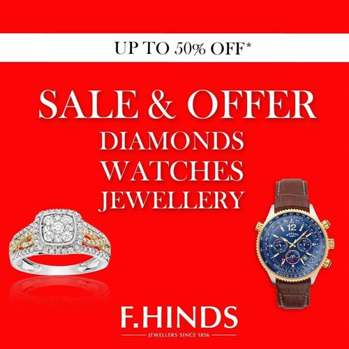 Get up to 50% off in the F. Hinds Sale