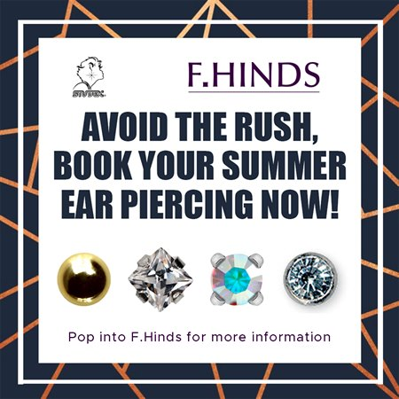 Ear Piercing at F.Hinds