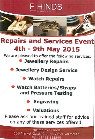 F. Hinds Repairs and Service Event